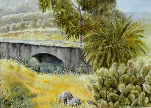 TCUMFL1008, Puente en el barranco, 38X27, 170310-R