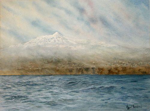 TCUMFL1501, El Teide desde la mar, 56X42, 20150111 (1)-R