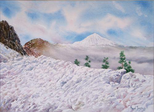 TCUMFL1502, El Teide, mar de nubes y nieve, 62X45, 20150121 (1)-RS
