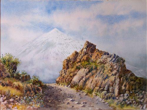 TCUMFL1505, El Teide desde Gran Canaria, 41X56, 20150315 (1)-R