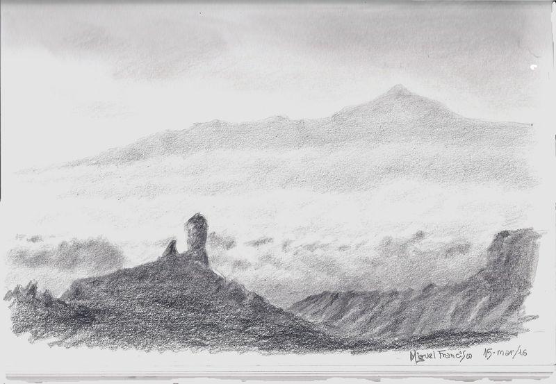 TDIMFL_Roque Nublo y el Teide, 29X19. 20160315